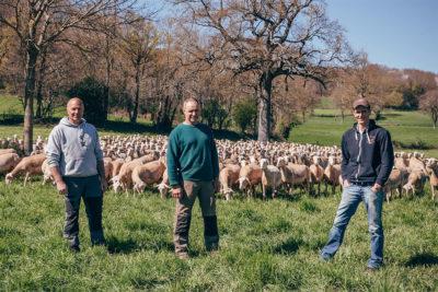Gaec des trois lacs : trois éleveurs de brebis :jean Belet, Thierry Durand, Julien Gavalda à Truel, en Aveyron. Article de Écho'Aveyron mai-juin 2017