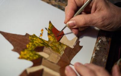 Il Était une Feuille – La peinture sur feuille pour se rapprocher de la nature