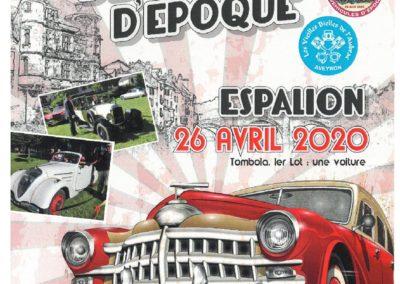 Journée nationale des véhicules d'époque à Espalion